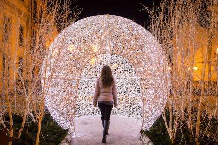 decorazioni natalizie allestimenti natale igloo sfera luminosa led